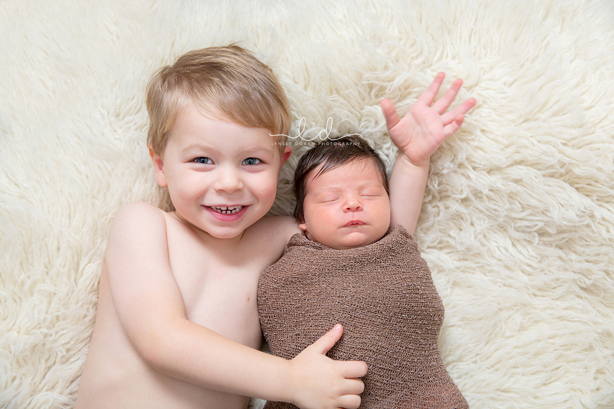 Newborn and sibling photographs leeds