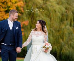 Autumn wedding photographs yorkshire