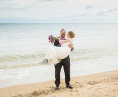 bridlington beach wedding photography