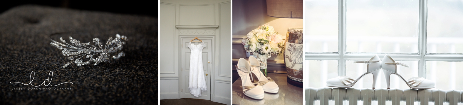 wedding dress and shoes photos