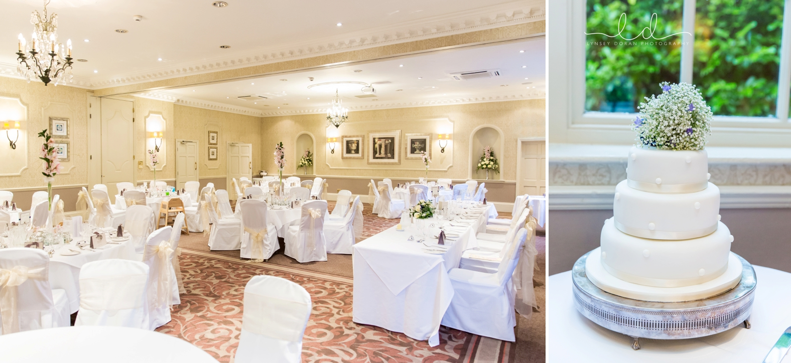 Wedding reception at wood hall hotel and spa