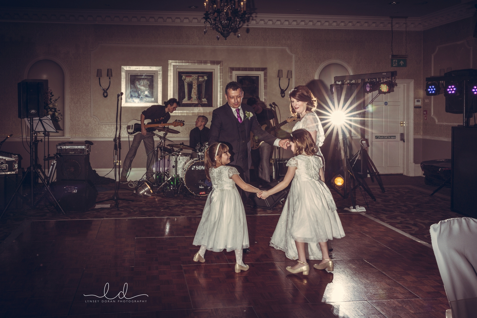 First dance wedding photographs wood hall wetherby