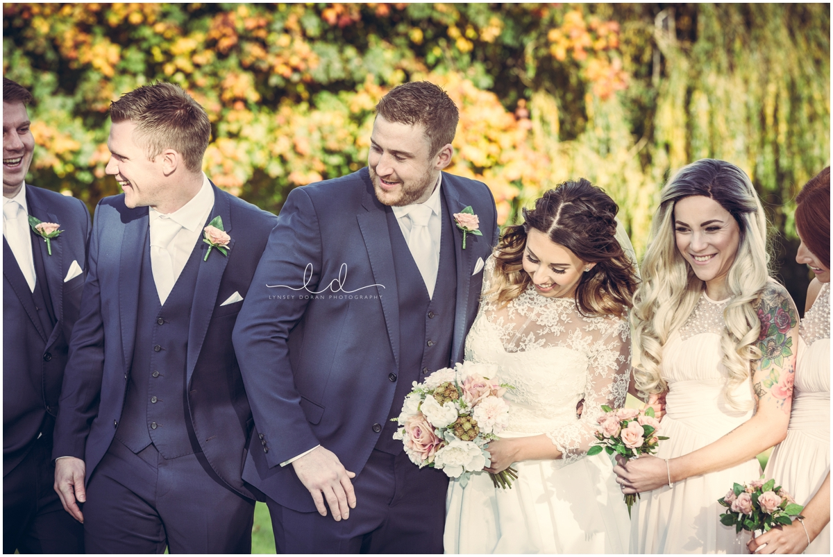 relaxed group photos at weddings