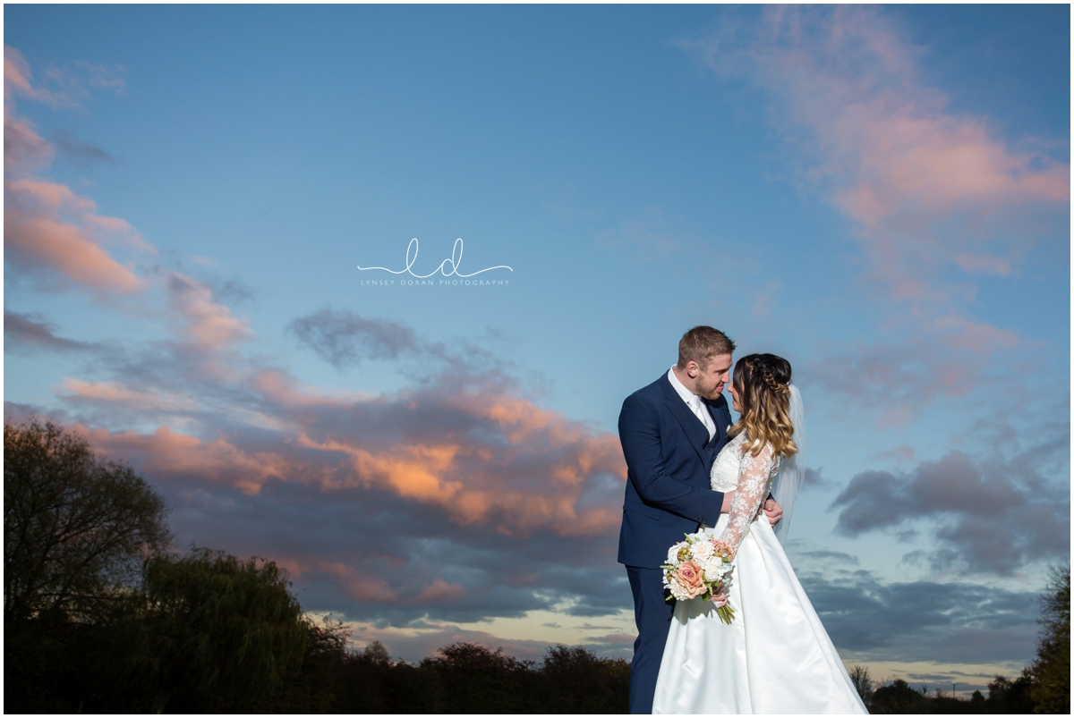 sunset wedding photography yorkshire