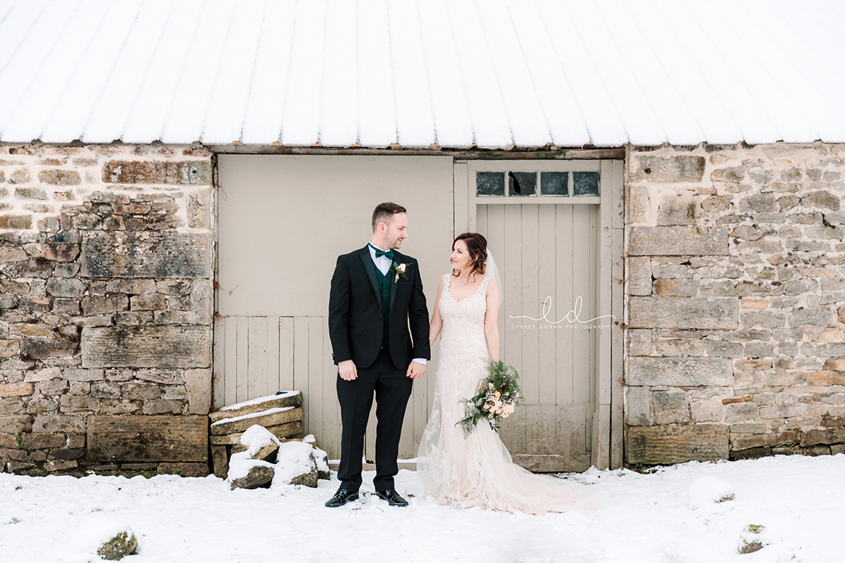 bolton abbey winter wedding