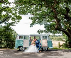 Vintage Camper Van Wedding Car