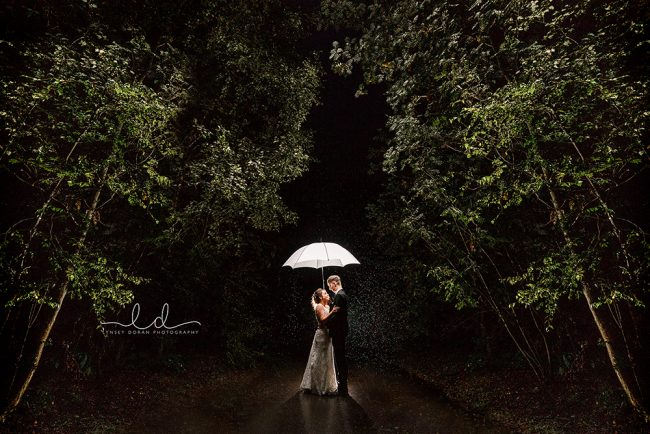 Wedding Photographs in the Rain in Yorkshire