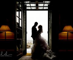 Rainy Wedding Photographs at Denton Hall North Yorkshire